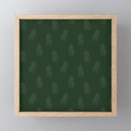 Green Fern Motif Framed Mini Art Print