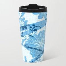 Bird in blue Metal Travel Mug