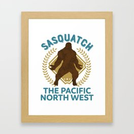 Sasquatch The Pacific North West PNW Bigfoot product Framed Art Print
