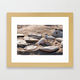 Shelves in the sand Framed Art Print