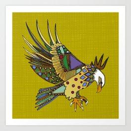 jewel eagle chartreuse Art Print