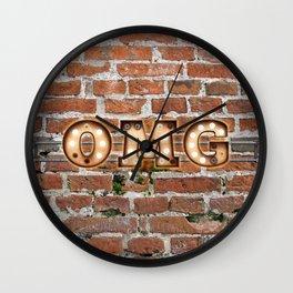 O M G  - Brick Wall Clock