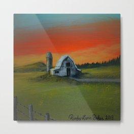 Sunrise Farm Metal Print