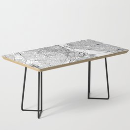 Montreal White Map Coffee Table