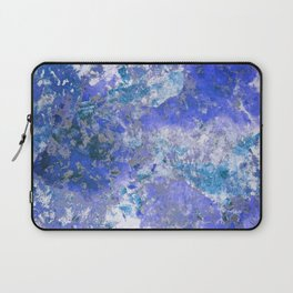 Cornflower Blue Abstract Painting Laptop Sleeve