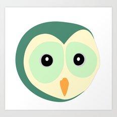 Owl Verde Art Print