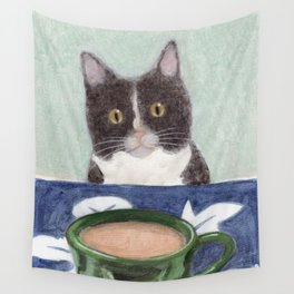 Coffee with Henry #4 Wall Tapestry