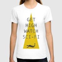 sci fi T-shirts featuring watch sci-fi by alex lodermeier