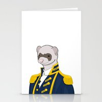 ferret Stationery Cards featuring Captain Ferret by Szilárd A Legjobb