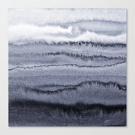 WITHIN THE TIDES - VELVET GREY Canvas Print