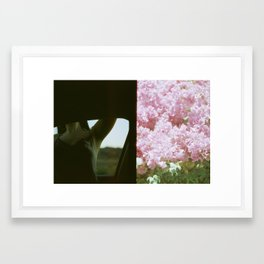 Lady in JTree Framed Art Print