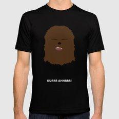 Star Wars Minimalism - Chewbacca Black LARGE Mens Fitted Tee