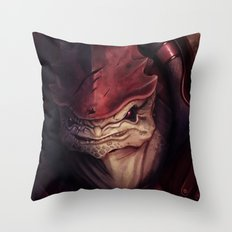 Mass Effect: Urdnot Wrex Throw Pillow