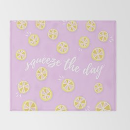 Squeeze The Day | Lemons Throw Blanket