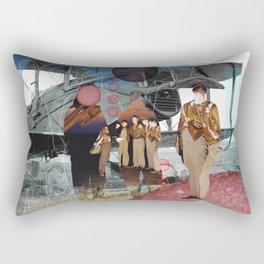 Flieger, gruess mir die Sonne... Collage Rectangular Pillow