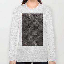 Abstract vintage gray brown black geometrical pattern Long Sleeve T-shirt
