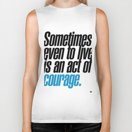 seneca quote, typography art Biker Tank
