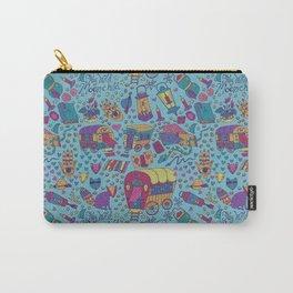 Caravan Pattern Carry-All Pouch
