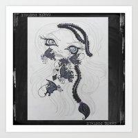 Lowbrow Misfit Channeling Inner Demonds  Art Print