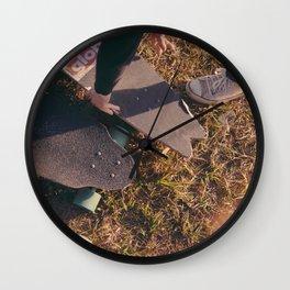 Stacked decks Wall Clock