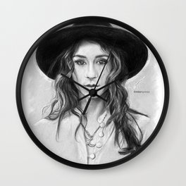 Troian Gray Sketch Wall Clock