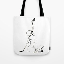 India Ink Dance Drawing Tote Bag