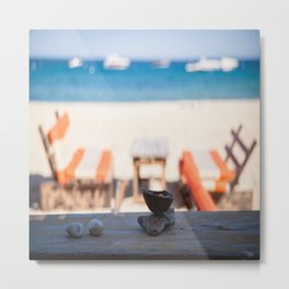 St Tropez Beach Day Metal Print