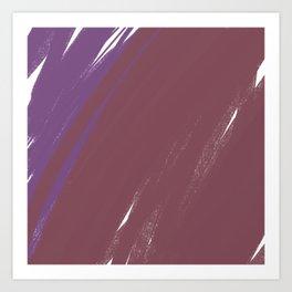 Painted design choco Art Print