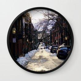 Boston Side Streets Wall Clock