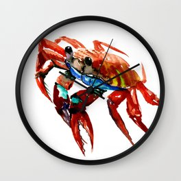 Crab, Sea World Crab Artwork Wall Clock