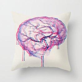 3D Brain Throw Pillow