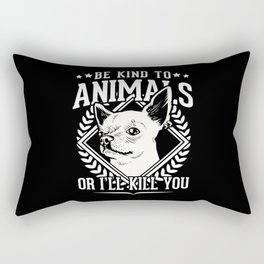 Be Kind To Animals Chihuahua Rectangular Pillow