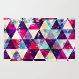"Retro Geometrical Abstract Design ""Josephine"" inspired Rug"