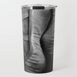 Fine Art Mono Photograph - Ballerina Shoes Travel Mug