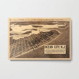 Map Of Ocean City 1903 Metal Print