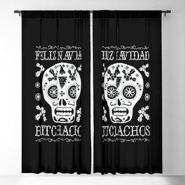 Christmas Bitchachos Blackout Curtain
