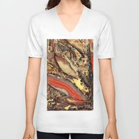 agate V-neck T-shirts featuring Colorful Gemstone I by Kristiana Art Prints