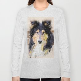 Rough Collie (Low Poly) Long Sleeve T-shirt