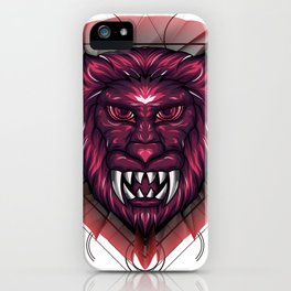 Mythical Lion Head Sacred Geometry iPhone Case