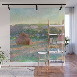 Stacks of Wheat (End of Summer) - Claude Monet Wall Mural