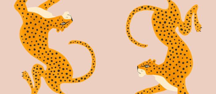 Leopard Race - pink Kaffeebecher