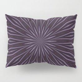 Artisitic Floral Kaleidoscope Pattern Purple Shades Pillow Sham
