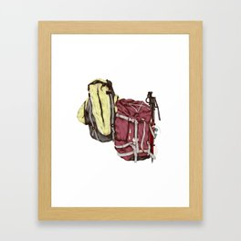Backpack Adventures Framed Art Print