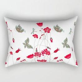 Tatemae Japanese White Rectangular Pillow