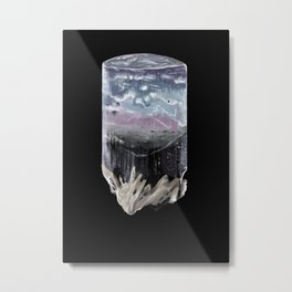 Hand-painted Tourmaline crystal Metal Print