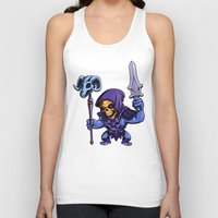 skeletor Tank Tops featuring Little Skeletor by Rico Marcano