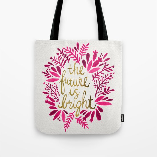 The Future is Bright – Pink & Gold Tote Bag
