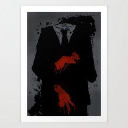 Murder Suit Art Print