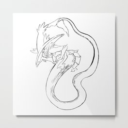 Mermaid-magius Metal Print