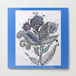 Trio flowers in the wind Metal Print